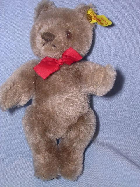 STEIFF ORIGINAL TEDDY CARAMEL 7 INCH BEAR 0202/18 EAR BUTTON AND TAG