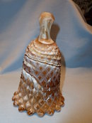 IMPERIAL CARAMEL SLAG GLASS BELL DIAMOND POINT DESIGN