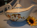 HALL AUTUMN LEAF ALADDIN TEAPOT WITH INFUSER