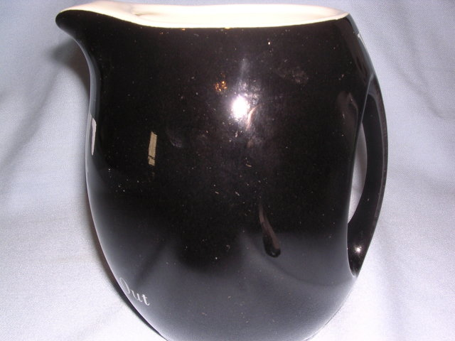 VAT 69 SCOTCH WHISKEY BLACK BAR WATER PITCHER