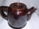 OCCUPIED JAPAN BROWN POTTERY INDIVIDUAL TEAPOT TEA POT