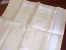 8  Damask Dinner Napkins Butter Yellow Pristine Condition