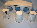 ANTIQUE GERMAN GRANITEWARE GRANITE ENAMEL CHICKEN WIRE LAUNDRY SET RARE