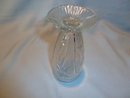 CLEAR JEANNETTE IRIS & HERRINGBONE  FOOTED WATER TUMBLER GLASS