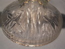 JEANNETTE IRIS & HERRINGBONE  PAIR DOUBLE LIGHT CANDLESTICKS
