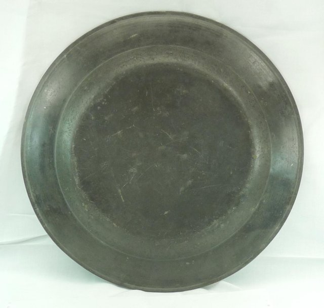 Lg Pewter Charger EDWARD GREGORY Bristol England 1690's