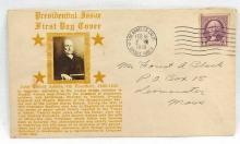 1939 JOHN QUINCY ADAMS Presidential Issue First Day Cover Envelope w/ B&W Photo