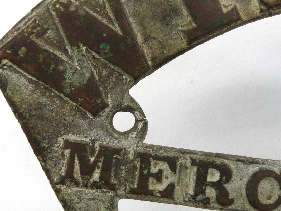 Antique John  WILDER'S Salamander Safe Badge Plate 25 Merchants Row Boston MA