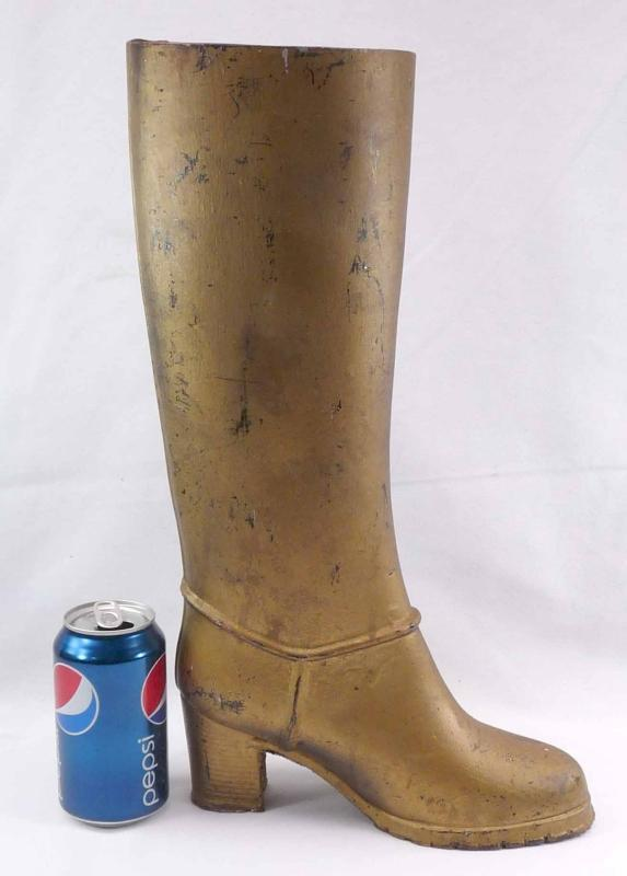 Large Vintage Metal  Rubber Boot  Mold 17 1/2