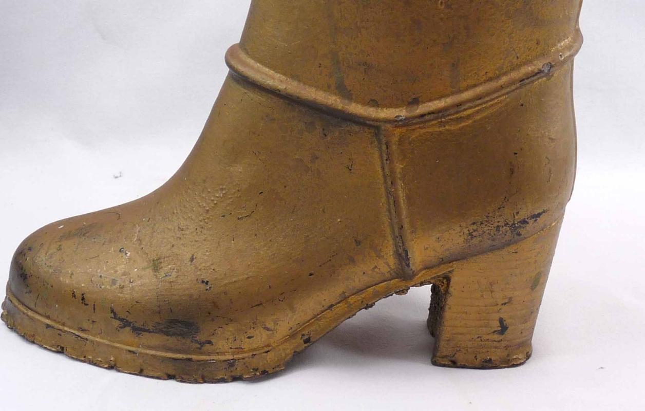 Large Vintage Metal  Rubber Boot  Mold 17 1/2