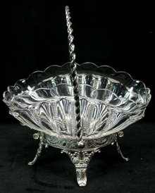 Antique JAMES TUFTS Silverplate Brides Cake Basket