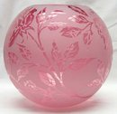 Large Cranberry Signed KELSEY PILGRIM Etched