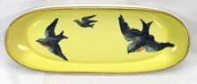 Pre 1921 Hand Painted Nippon Celery Dish Blue Birds