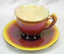 Royal Winton Lustre WareTeacup & Saucer Rosebud Handle