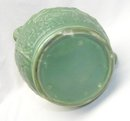 1900 Green Vance Avon Faience Hound Handle