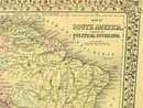 1880 Mitchell's Atlas Map SOUTH AMERICA VENEZUELA PERU