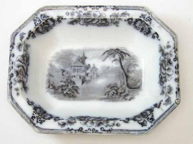 1848 Davenport Cyprus Flow Mulberry Serving Bowl