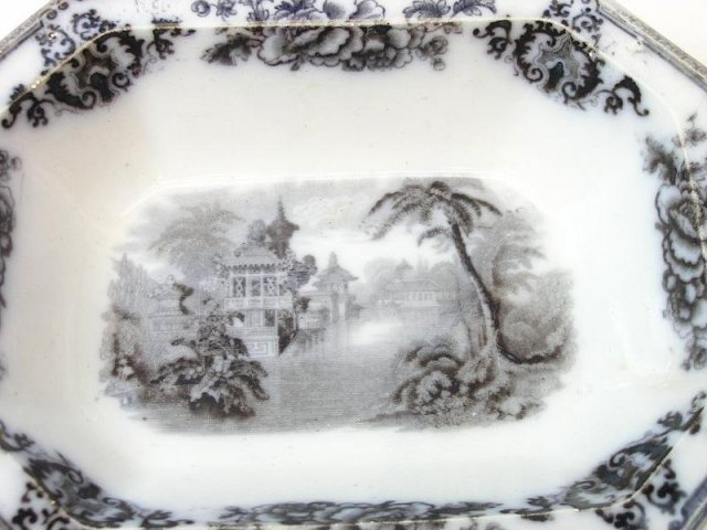 1848 Davenport Cyprus Flow Mulberry Serving Bowl