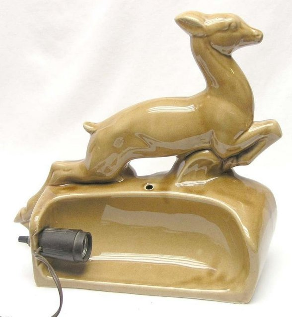 Vintage Running Deer TV Lamp