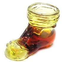 Boyd Crystal Art Glass Amberina Tramp Shoe