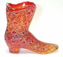 Fenton Carnival Daisy and Button Glass Boot