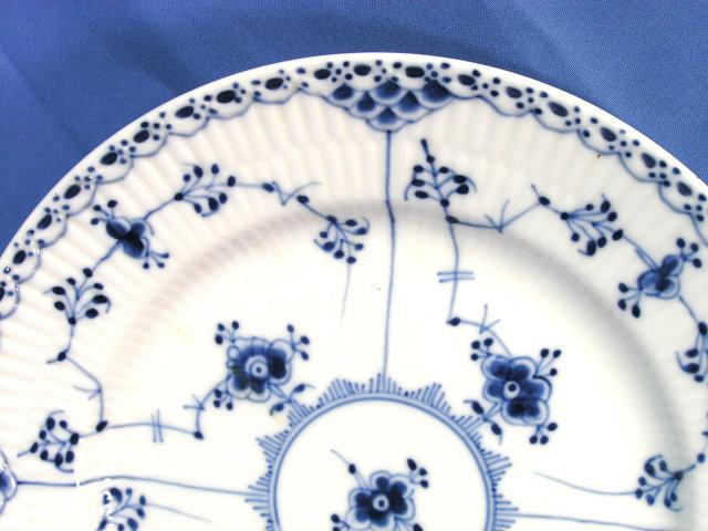 Royal Copenhagen BLUE FLUTED HALF LACE Salad Plate 573
