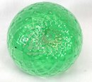 Old Blown Art Glass Diamond Quilt Opalescent Rose Bowl
