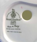 1993 Royal Doulton DAWN Figurine HN 3600 FIRST YR ISSUE