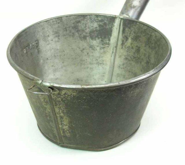 Antique Dover Tin Dipper / Wash Tub Suds Dipper