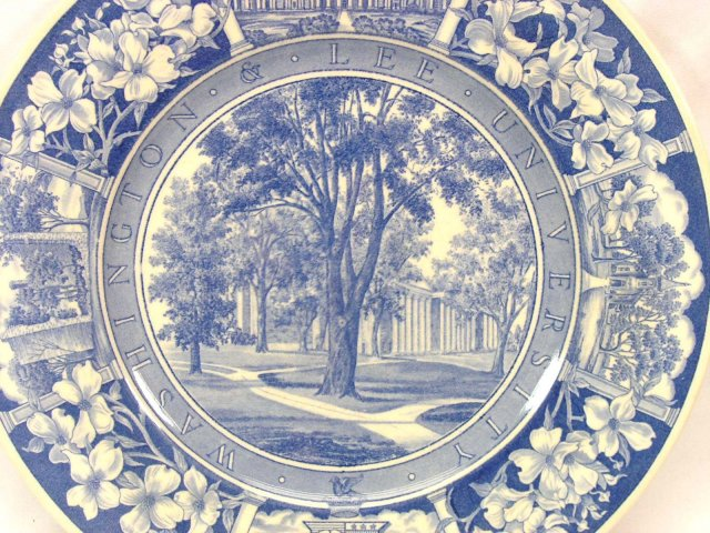 WASHINGTON & LEE WEDGWOOD Plate CAMPUS Walk