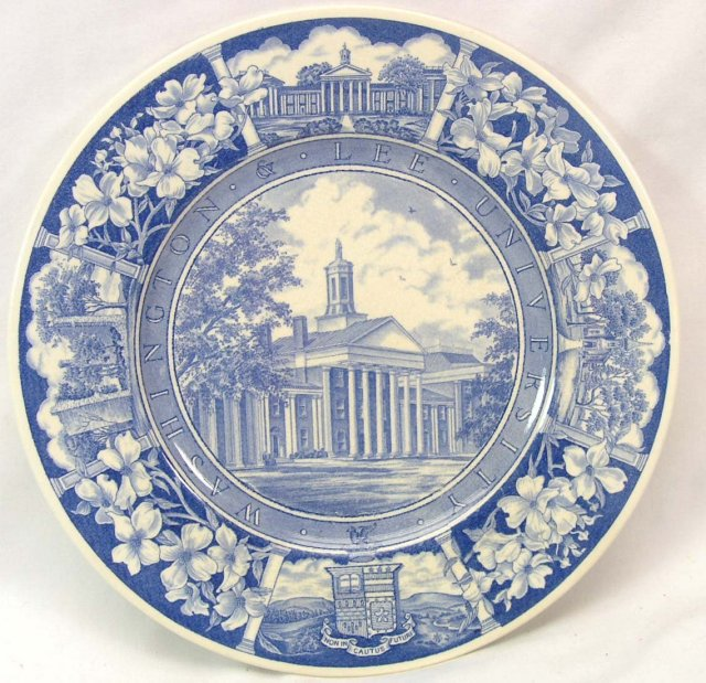 WASHINGTON & LEE WEDGWOOD Plate WASHINGTON