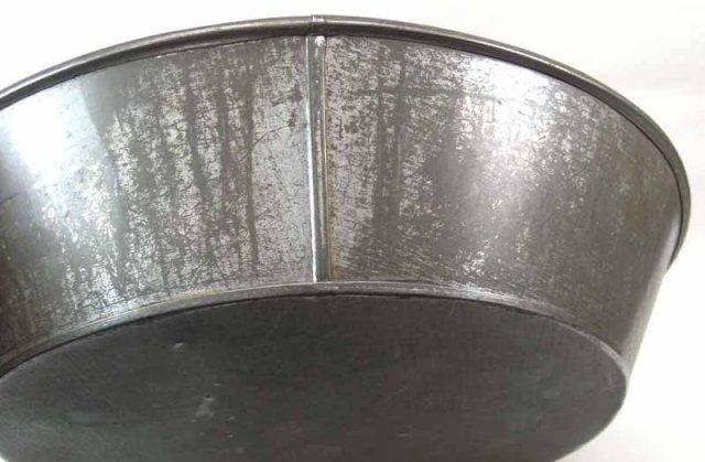 Lg Antique Tin Milk Pan Basin 15
