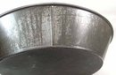 Lg Antique Tin Milk Pan Basin 15