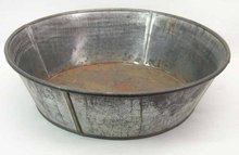 Antique Tin Milk Pan Basin 12