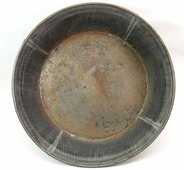 Antique Tin Milk Pan Basin 12