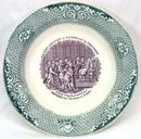 Old Staffordshire Lavender & Green Bowl Joseph Biblical