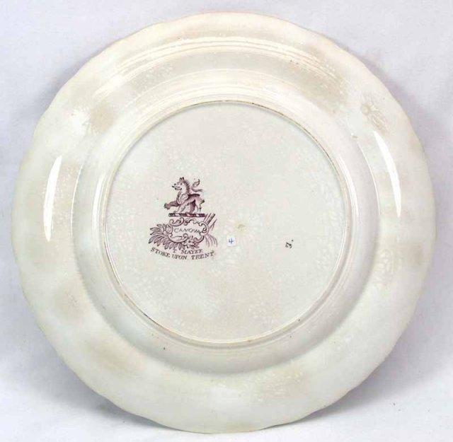 Purple Transferware T MAYER Staffordshire CANOVA Plate