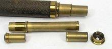 Antique Brass Spy Glass Telescope Made France w/ Case