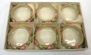 6 BELLEEK WILLETS Salts Salt Cellar Hand Painted O BOX