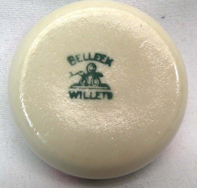 6 BELLEEK WILLETS Salts Salt Cellar Hand Painted O BOX