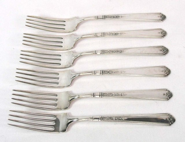 6 GORHAM Sterling Silver Forks PRINCESS PATRICIA