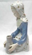 ANDREA by SADEK Porcelain Girl Figurine w/ Pottery