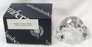 Signed VAL ST LAMBERT Stone Rock Paperweight w/ O BOX