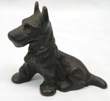 Vintage Cast Iron SCOTTISH TERRIER Scottie Paperweight