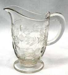 EAPG GOOSEBERRY Pattern Pitcher Creamer 1880's
