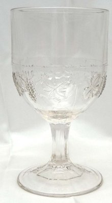2 1869 EAPG EARLY GRAPE BAND Ashburton Grape Vine Goblet