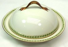 T & V LIMOGES Pattern 5856 Cov Butter Dish w/ Ice Tray