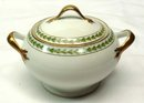 T & V LIMOGES Pattern 5856 2 Handled Covered Sugar Bowl