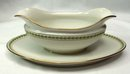 T & V LIMOGES Pattern 5856 Gravy Boat w/ Att Underplate