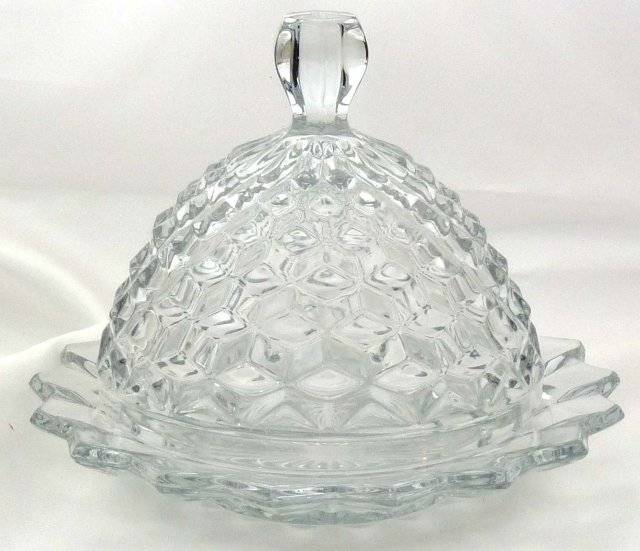 Fostoria AMERICAN Round Dome Covered Butter Dish